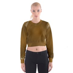 Abstract Background Women s Cropped Sweatshirt