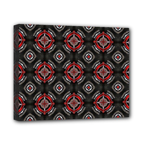 Abstract Black And Red Pattern Canvas 10  X 8
