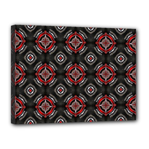 Abstract Black And Red Pattern Canvas 16  x 12