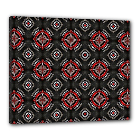 Abstract Black And Red Pattern Canvas 24  x 20
