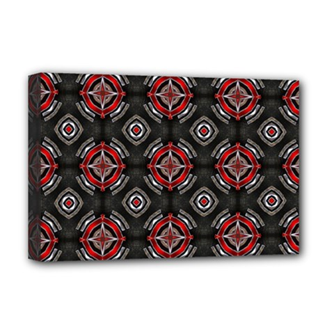 Abstract Black And Red Pattern Deluxe Canvas 18  X 12