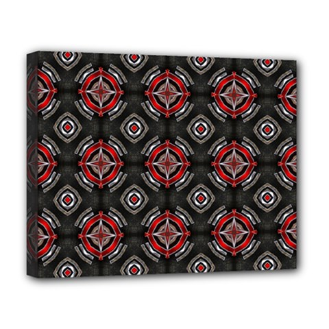Abstract Black And Red Pattern Deluxe Canvas 20  X 16