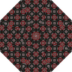 Abstract Black And Red Pattern Golf Umbrellas