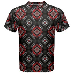 Abstract Black And Red Pattern Men s Cotton Tee