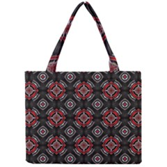 Abstract Black And Red Pattern Mini Tote Bag