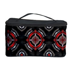 Abstract Black And Red Pattern Cosmetic Storage Case