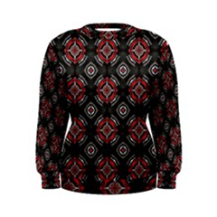 Abstract Black And Red Pattern Women s Sweatshirt