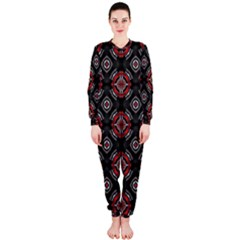 Abstract Black And Red Pattern OnePiece Jumpsuit (Ladies)