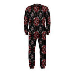 Abstract Black And Red Pattern Onepiece Jumpsuit (kids)