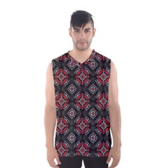 Abstract Black And Red Pattern Men s Basketball Tank Top