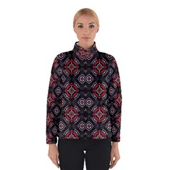 Abstract Black And Red Pattern Winterwear