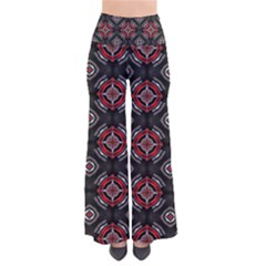 Abstract Black And Red Pattern Pants