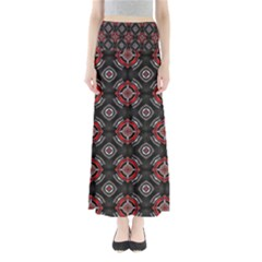 Abstract Black And Red Pattern Maxi Skirts