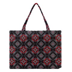 Abstract Black And Red Pattern Medium Tote Bag
