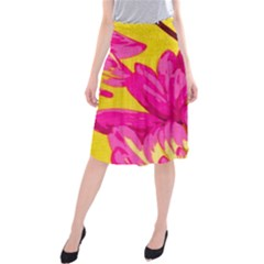 Cute pink flower Midi Beach Skirt