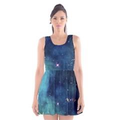 Space Scoop Neck Skater Dress