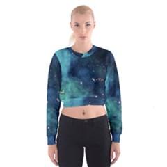 Space Women s Cropped Sweatshirt