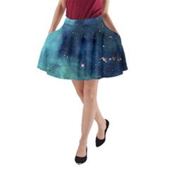 Space A-Line Pocket Skirt