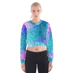 Rainbow sparkles Women s Cropped Sweatshirt