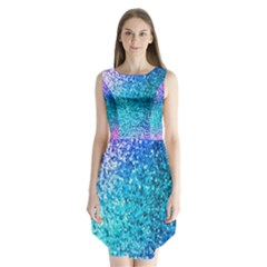 Rainbow sparkles Sleeveless Chiffon Dress
