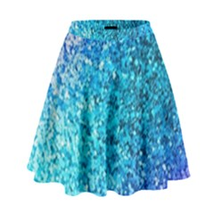 Rainbow sparkles High Waist Skirt