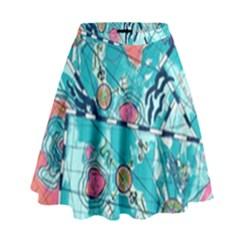 Map High Waist Skirt