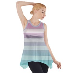 Colorful vertical lines Side Drop Tank Tunic