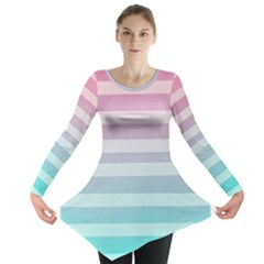 Colorful vertical lines Long Sleeve Tunic