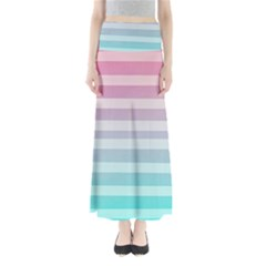 Colorful vertical lines Maxi Skirts