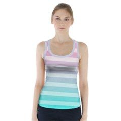 Colorful vertical lines Racer Back Sports Top
