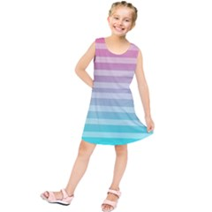 Colorful vertical lines Kids  Tunic Dress