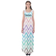 Colorful wavy lines Empire Waist Maxi Dress