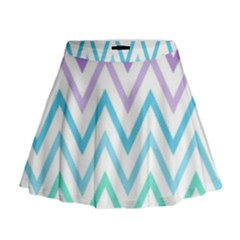 Colorful wavy lines Mini Flare Skirt