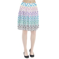 Colorful wavy lines Pleated Skirt