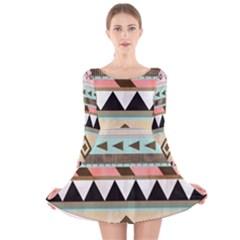 Dark bohemian Long Sleeve Velvet Skater Dress