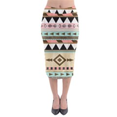 Dark bohemian Midi Pencil Skirt