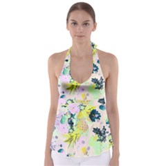 Paint Babydoll Tankini Top