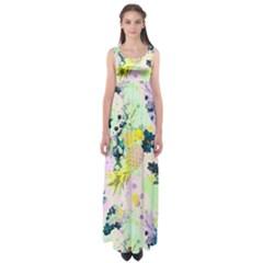 Paint Empire Waist Maxi Dress