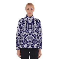 Deep blue flower Winterwear