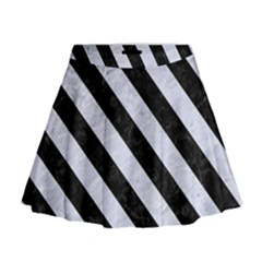 STR3 BK-WH MARBLE (R) Mini Flare Skirt