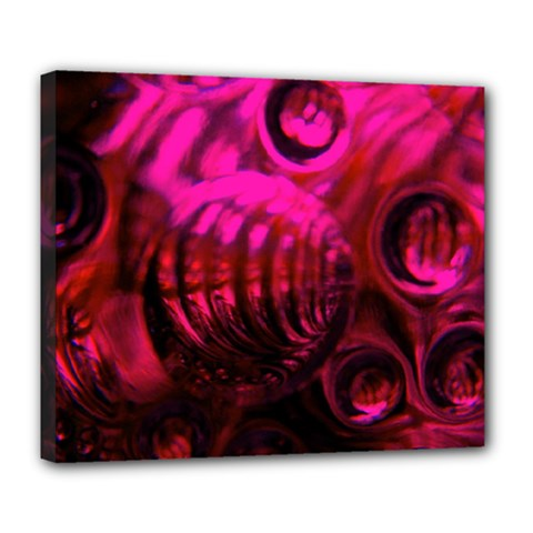 Abstract Bubble Background Deluxe Canvas 24  X 20