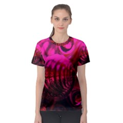 Abstract Bubble Background Women s Sport Mesh Tee