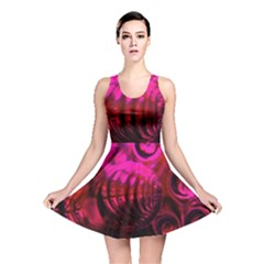 Abstract Bubble Background Reversible Skater Dress
