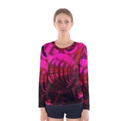 Abstract Bubble Background Women s Long Sleeve Tee