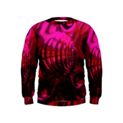 Abstract Bubble Background Kids  Sweatshirt