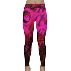 Abstract Bubble Background Classic Yoga Leggings