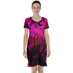 Abstract Bubble Background Short Sleeve Nightdress