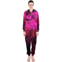 Abstract Bubble Background Hooded Jumpsuit (ladies)