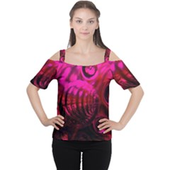 Abstract Bubble Background Women s Cutout Shoulder Tee
