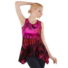Abstract Bubble Background Side Drop Tank Tunic